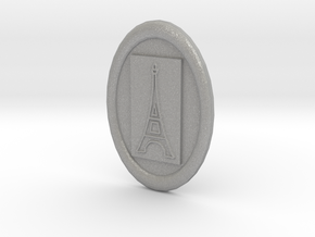 Oval Eiffel Tower Button in Aluminum