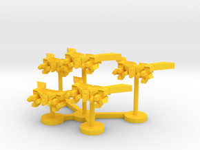 Colour Royal Falcons Fighter Wing in Yellow Processed Versatile Plastic
