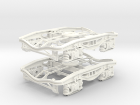 Y25 7mm Polybulk Bogie Pair in White Processed Versatile Plastic