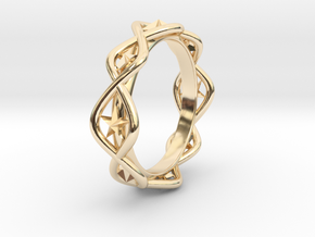 Ring Of Hoshi 14.1 mm Size 3 fixed in 14K Yellow Gold