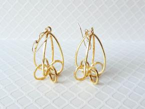 Finials - Pair of Earrings in Precious Metal in 18k Gold Plated