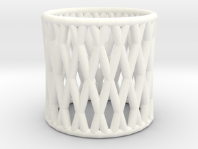 Napkin Ring in White Processed Versatile Plastic