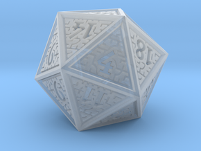Hedron D20 (Solid), balanced gaming die in Smooth Fine Detail Plastic