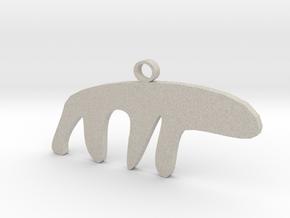 The Sneaky Polar Bear in Natural Sandstone