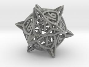 'Center Arc' dice, D20 MTG Spindown Life Counter in Metallic Plastic