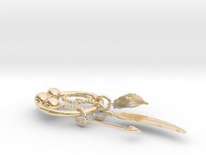 Formosan Blue Magpie in 14k Gold Plated: Medium