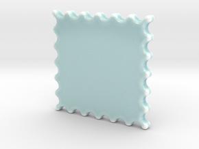 Celadon Selfie Stamp Wall Frame in Gloss Celadon Green Porcelain