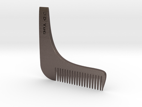 Beard Comb in Polished Bronzed Silver Steel: Medium