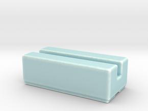 Celadon Selfie Name Plate Business Card Holder in Gloss Celadon Green Porcelain