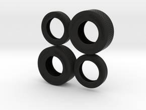 "1/25 22,5"" Truck-Tires in Black Strong & Flexible"