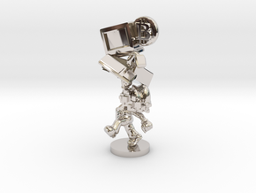 Bitcoin Legend Statue in Rhodium Plated Brass: Extra Small