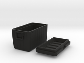 Camping-Cooler - 1/10 in Black Natural Versatile Plastic
