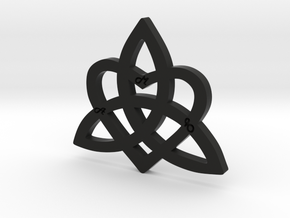 HEART & FAMILY 1 in Black Natural Versatile Plastic: Medium