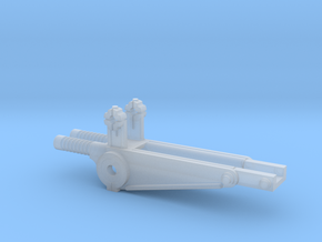 AA Mount for DShK machine Gun part B Scale 1:12 in Smooth Fine Detail Plastic