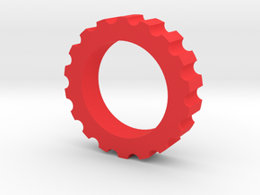 Spline Nut Fidget Spinner in Red Processed Versatile Plastic