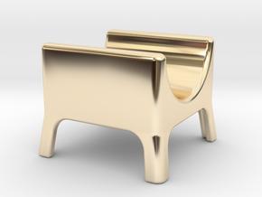 Cigar stand in 14K Yellow Gold: Medium