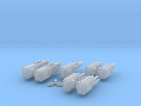 WoB Beam Weapon Pack A in Smooth Fine Detail Plastic