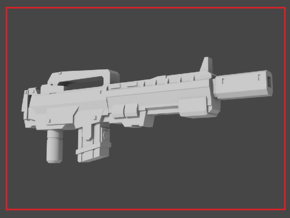 """""""AMP-16"""" Transformers Weapon (5mm post) in White Natural Versatile Plastic"""