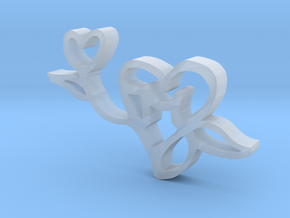 The Love Flower in Smooth Fine Detail Plastic