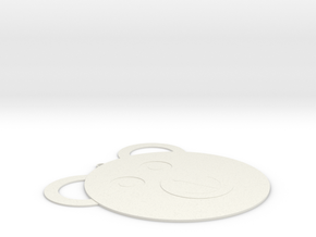 Bear necklce in White Natural Versatile Plastic