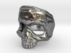 SkullRing in Polished Silver: 12 / 66.5