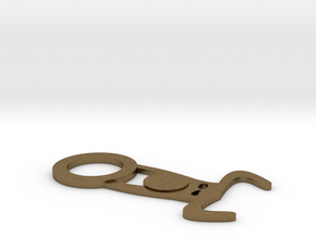 Suspension in Natural Bronze