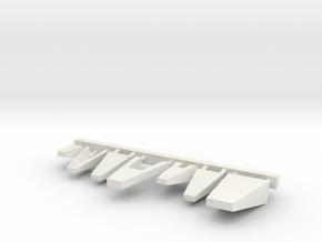 1/72 scale Bridge Front Platforms in White Natural Versatile Plastic