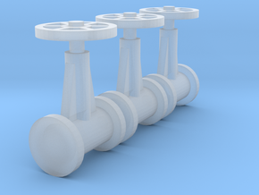 "'N Scale' - (3) 20"" Diameter Valves in Smooth Fine Detail Plastic"