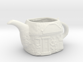 Printle Thing TeaPot 02 1/24 in White Natural Versatile Plastic