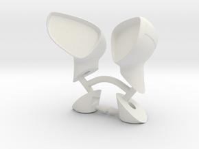 hpi WR8 Fiesta wing mirrors in White Natural Versatile Plastic