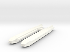 Fiwg-2 Fed Improved Warp Nacelle Set in White Processed Versatile Plastic
