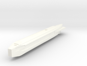 Fiwg-1 Fed Improved Warp Nacelle in White Processed Versatile Plastic
