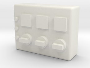 1/10 scale GROW ROOM CONTROL SWITCHES in White Strong & Flexible: 1:10