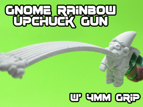 Gnome Rainbow Upchuck-Gun (4mm) in White Natural Versatile Plastic