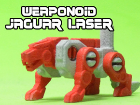 Jaguar Laser Transforming Weaponoid Kit (5mm) in White Natural Versatile Plastic