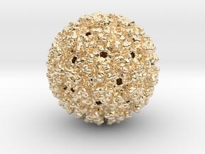 Chikungunya Virus in 14k Gold Plated Brass