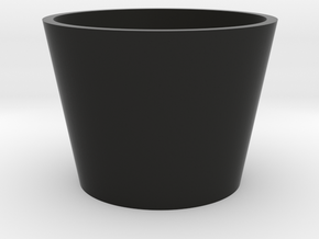 1/10 SCALE GROW ROOM FLOWERING POT in Black Natural Versatile Plastic: 1:10