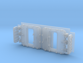 1/96 scale Arleigh Burke Bow Doors - Open in Smooth Fine Detail Plastic: 1:96