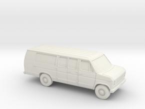 1/72 1975-91 Ford E-Series Van Extended in White Natural Versatile Plastic