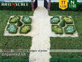Decorative hedges Ceres (N 1:160 - TT 1:120) in White Strong & Flexible