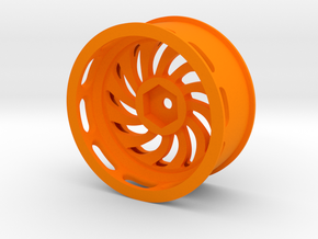 Steeringwheel 4px in Orange Processed Versatile Plastic