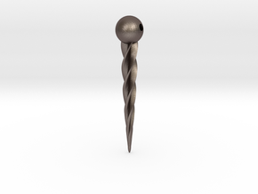 Twisted Pindot in Polished Bronzed Silver Steel
