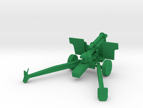 1/72 Scale 105 Mm M2A1 Howitze in Green Strong & Flexible Polished