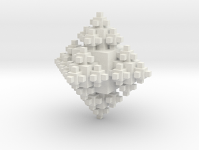 Cubic Octahedron in White Strong & Flexible