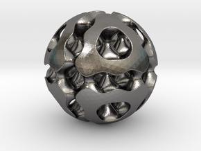 0616 F(x,y,z)=0 Bloby Schwarz Ball 12T (d=5cm) in Polished Nickel Steel