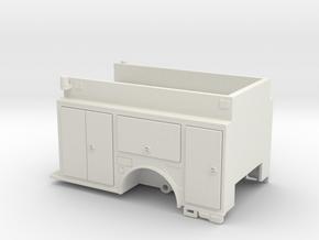 1/64 low hosebed pumper body in White Natural Versatile Plastic
