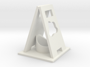 Caution Wet desktop.stl in White Natural Versatile Plastic