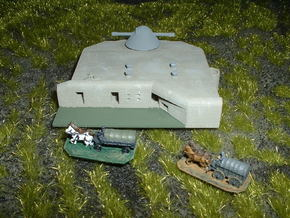 German Regelbau 446 Gun Director Bunker 1/285 in White Natural Versatile Plastic