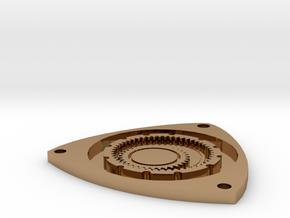 Rotary Engine Keychain in Polished Brass