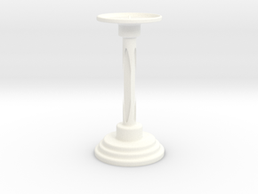 Candle Holders in White Processed Versatile Plastic